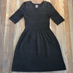 Vince Camuto Dark Gray Ribbed Sweater Dress XS